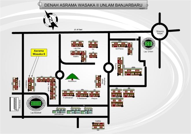 Denah Asrama Wasaka II